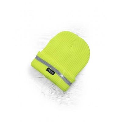 Zimná čiapka ARDON pletená + flísová podšívka hi-viz SPARK žltá