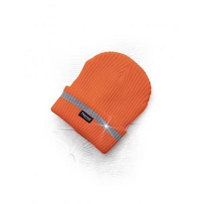 Zimná čiapka ARDON pletená + flísová podšívka hi-viz SPARK oranžová