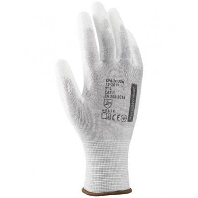 Polomáčané rukavice ARDON EPA TOUCH, sivá