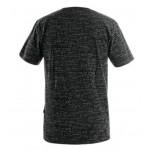 Pánske tričko CXS DARREN, čierna s potlačou loga