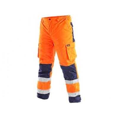 Pánske reflexné nohavice CARDIFF, zimné, oranžové