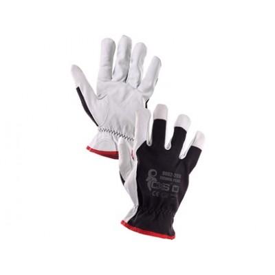 Kombinované rukavice TECHNIK PLUS, čierno-biele