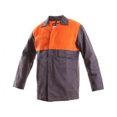 Pánska zváračská blúza Mofos, šedo-oranžová