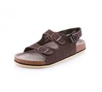 Obuv sandál CXS CORK FILL, pánsky, s opaskom, hnedý