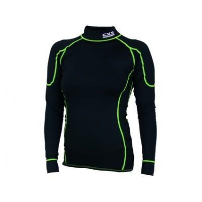Dámske funkčné tričko REWARD, dl. rukáv, čierno-zelené