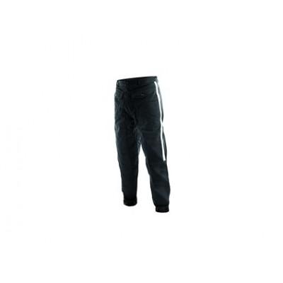 Pánske Faraci nohavice HORNÍK, so striebornými pruhmi, čierne