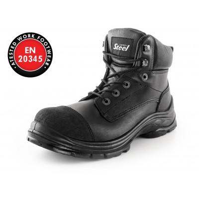 Bezpečnostná členková obuv CXS SAFETY STEEL MINE 2, čierna