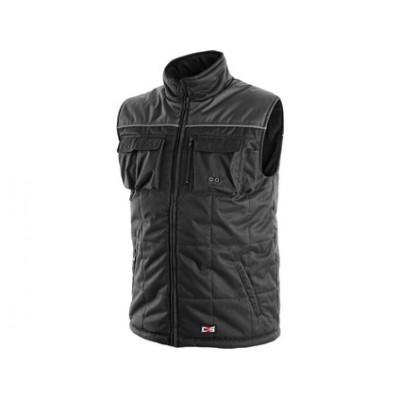 Pánska zimná vesta SEATTLE, čierno-šedá