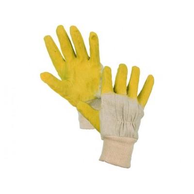 Latexové rukavice DETA, bielo-žlté, veľ. 10