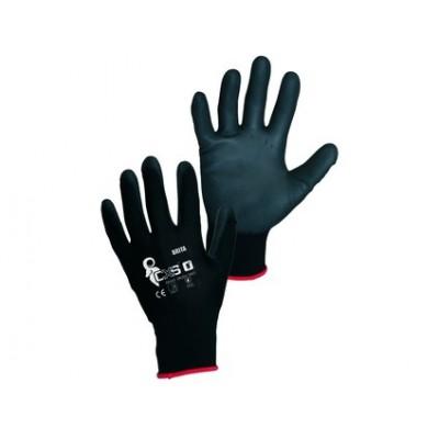 Potiahnuté rukavice BRITA BLACK, čierne