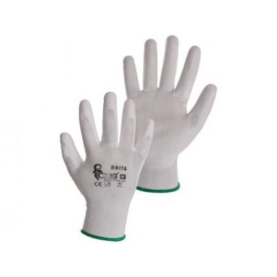 Potiahnuté rukavice BRITA, biele
