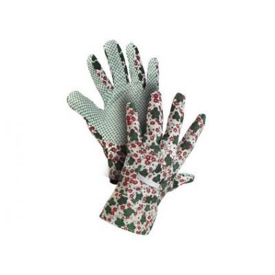 Textilné rukavice TABLA, s PVC terčíkmi, veľ. 08