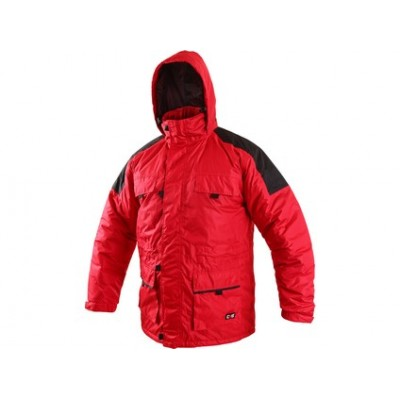 Zimná bunda FREMONT, pánska, červeno-čierna