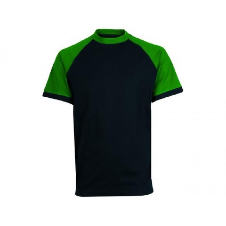 Pánske tričko CXS OLIVER, čierno-zelené