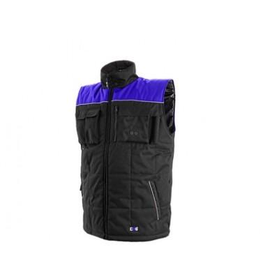 Pánska zimná vesta SEATTLE, čierno-modrá
