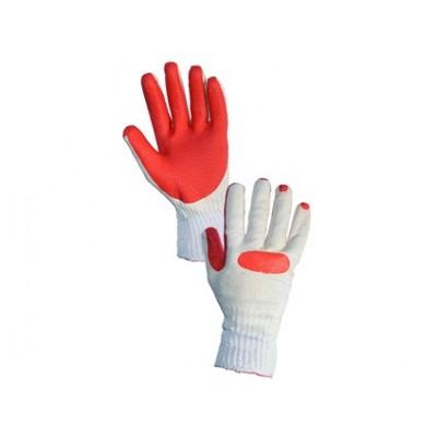 Latexové rukavice BLANCHE, bielo-oranžové