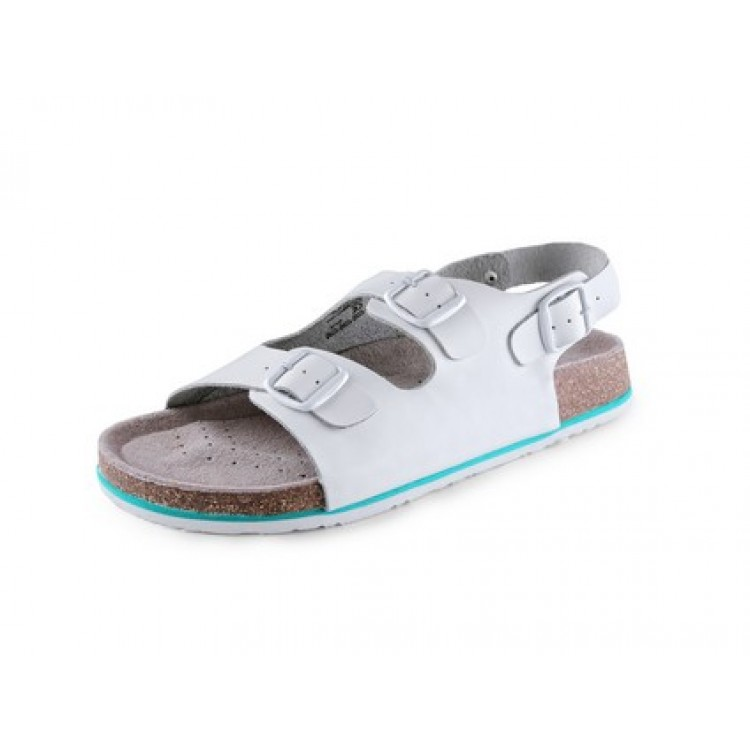 Obuv sandál CXS CORK MEGI, pánsky, s opaskom, biely