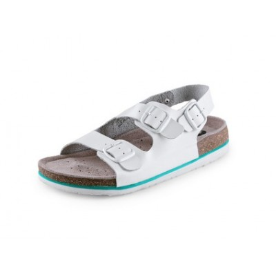 Obuv sandál CXS CORK MEGI, dámsky, s opaskom, biely