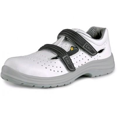 Pracovné sandále s oceľovou špicou PINE S1, perforované, biela