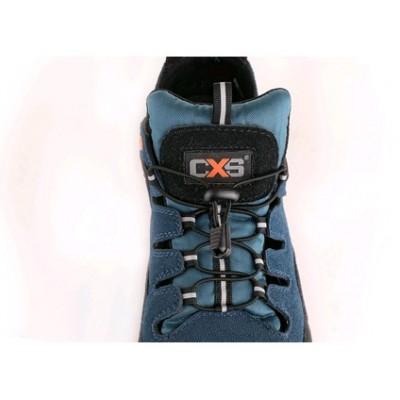 Bezpečnostný sandál CXS LAND CABRERA S1, ocel.šp., čierno-modrá