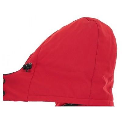 Pánska softshellová zateplená bunda CXS VEGAS, červeno-čierna