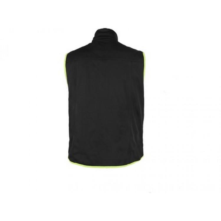 Pánska softshellová vesta PASO, čierno-žltá