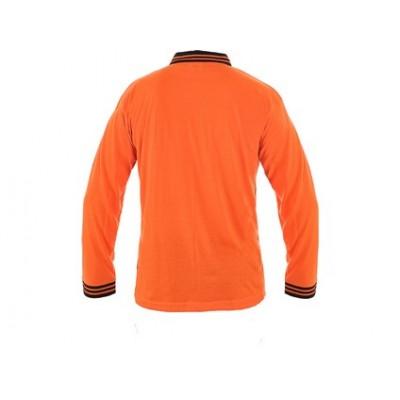 Polokošeľa LANDON, dlhý rukáv, oranžovo-čierna
