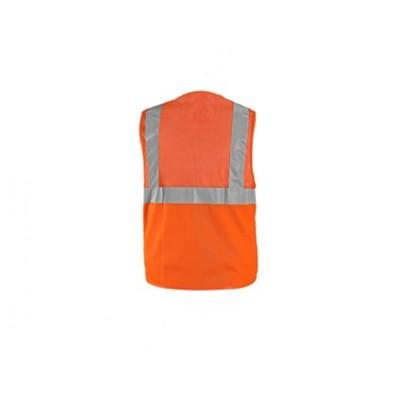 Výstražná vesta DORSET, sieťovaná, oranžová