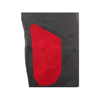 Pánske kraťasy CXS PHOENIX Zefyros, šedo-červené