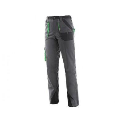 Dámske montérkové nohavice do pása CXS SIRIUS AISHA, šedo-zelené