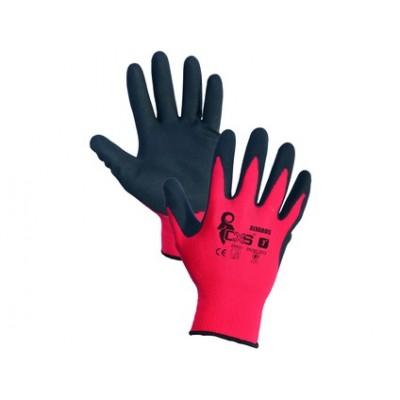 Potiahnuté rukavice ALVAROS, červeno-čierne