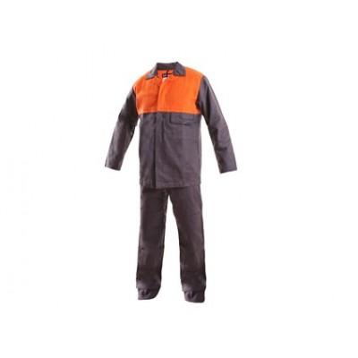 Pánska zváračská súprava Mofos, predĺžená, šedo-oranžová
