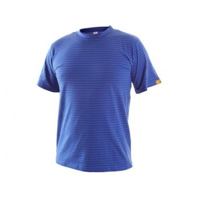 Antistatické tričko ESD, stredne modré
